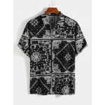 Bohemian Holiday Paisley Print Shirt