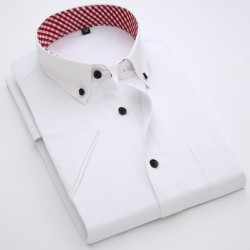 Men's Business short sleeve shirt White