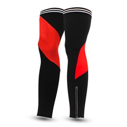 Red Cycling Leg Warmers - Leg Protectors