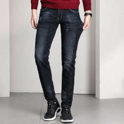 Men's slim fit classic denim straight leg