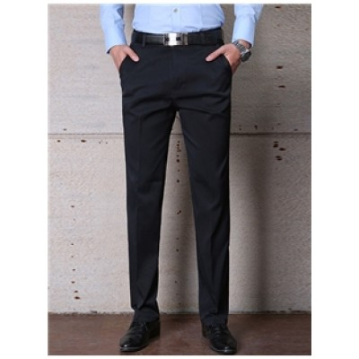 Black Casual Fit Trousers
